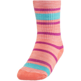 Smartwool Striped Hike Light - Chaussettes Enfant - orange/rouge